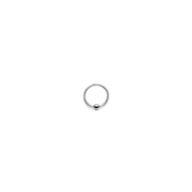Anneaux piercing acier 1.6mm bille 5mm pour téton piercing nombril et piercing génital