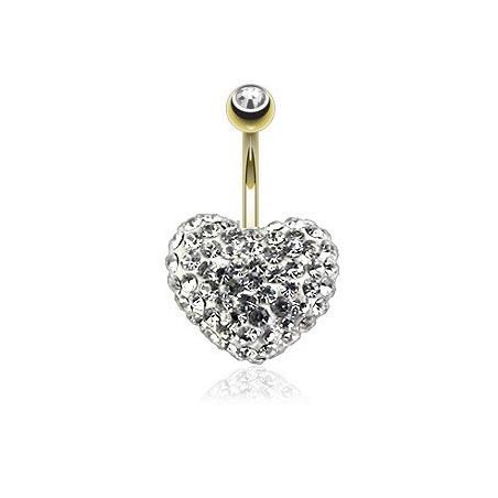 Piercing nombril Cristal Swarovswi forme Coeur