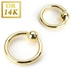Anneau diametre 1mm or 14 carats