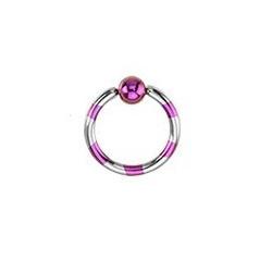 Piercing anneau 1.2mm acier et violet