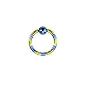 Piercing anneau 1.2mm acier et violet en titane