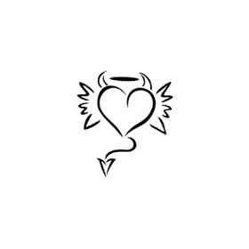Tatouage autocollant Coeur