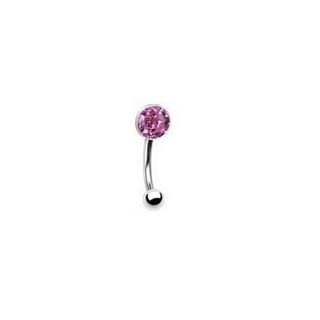 Piercing arcade cristal autrichien couleur rose