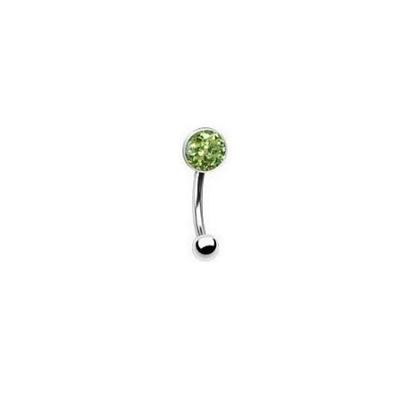 Piercing arcade cristal autrichien vert