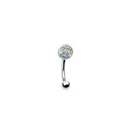 Piercing arcade cristal autrichien irisé