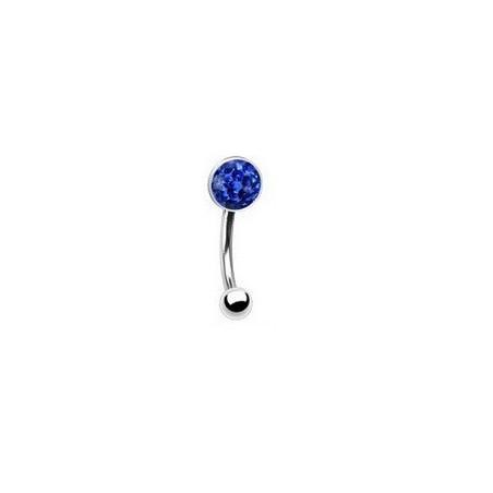 Piercing arcade cristal autrichien Bleu