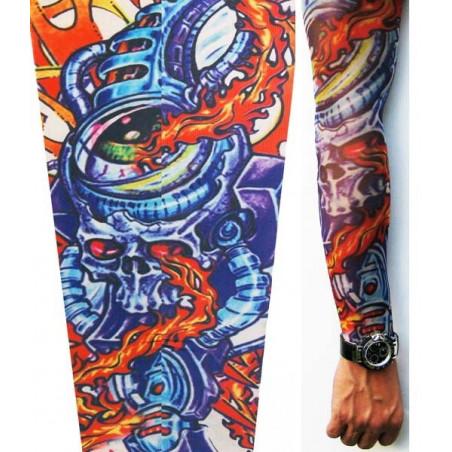 Manche tatouage Biotech style couleur
