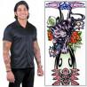 faux Tatouage manchette motif Panthère déguisement tattoo