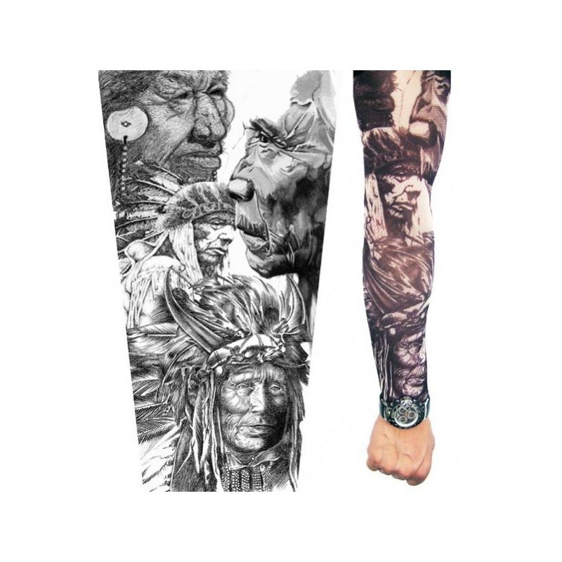 Manche Tatouage chef Indien en nylon extensible, accessoires de mode tatouage pas cher