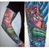 Manche faux Tattoos La Sirene couleur vente de manche tatouage pas cher