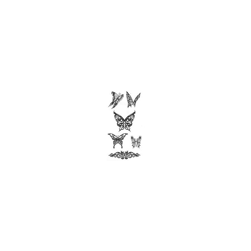 Tatouage papillon tribal tarawa piercing - Tribal papillon ...