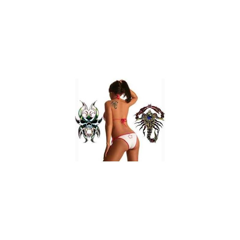 Tatouage Scorpion Tribal geant autocollant
