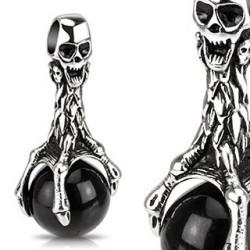 Pendentif Skull ball noir