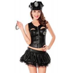 Costume sexy agent de police 5 pièces