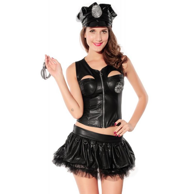 Costume femme sexy agent de police 5 pièces