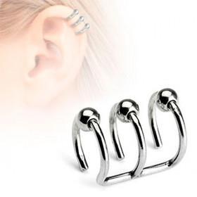 Faux piercing cartilage oreille triple anneaux billes faux piercing génital féminin