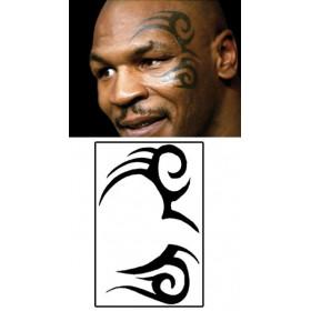 Tatouage temporaire Mike Tyson Tattoo visage tribal