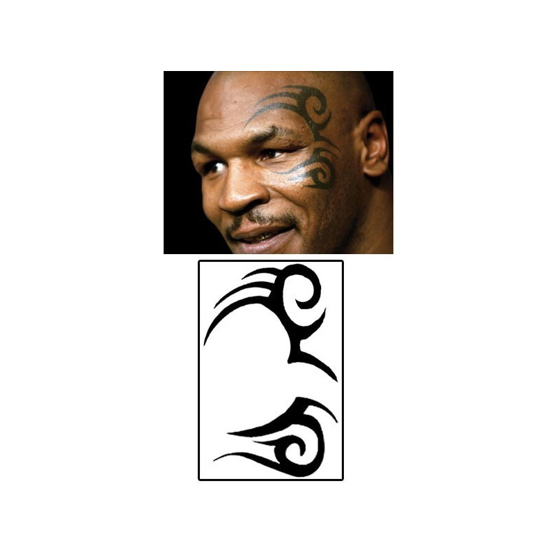 Tatouage temporaire Mike Tyson Tattoo visage tribal