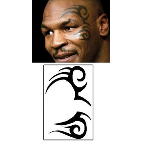 Mike Tyson Tattoo visage tribal