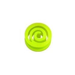 Piercing Plug spiral en silicone jaune fluo