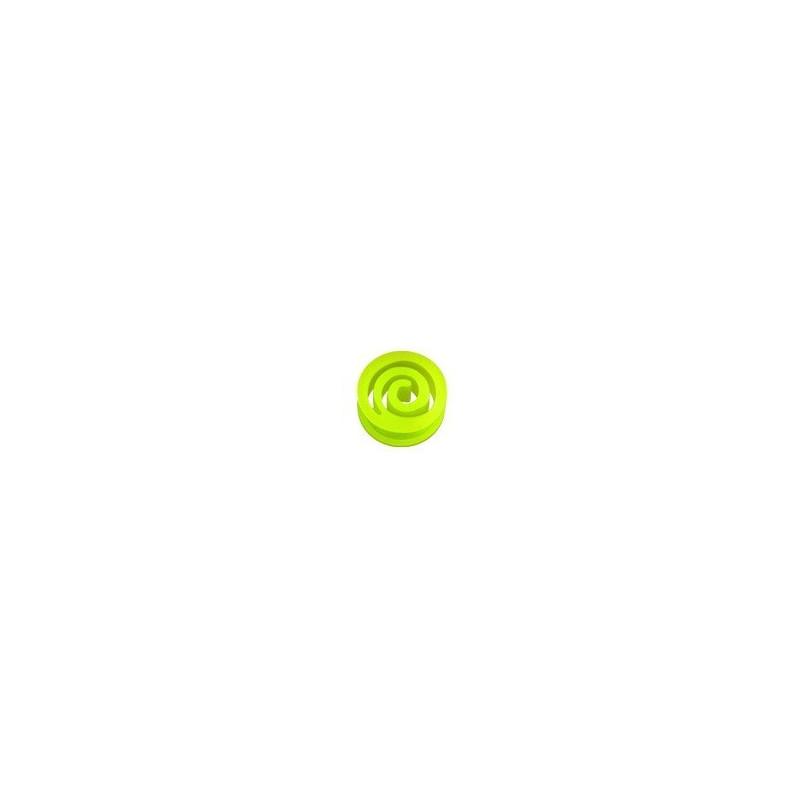 Plug spiral en silicone jaune fluo pleug ecrateur en bioflex fluo