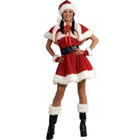 Costume Noel Miss Santa fourrure
