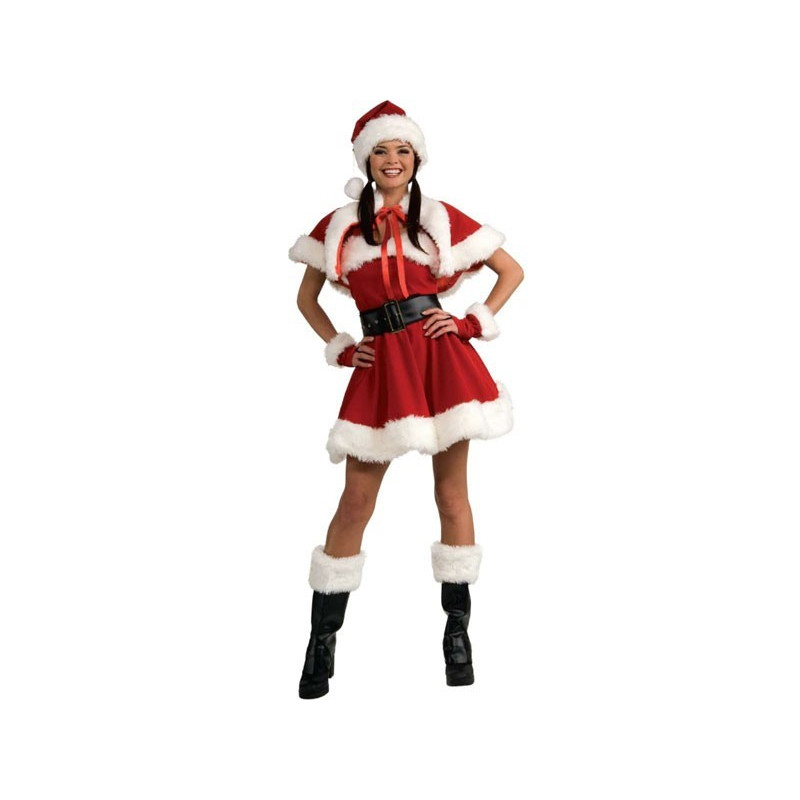 Costume Noel Miss Santa fourrure