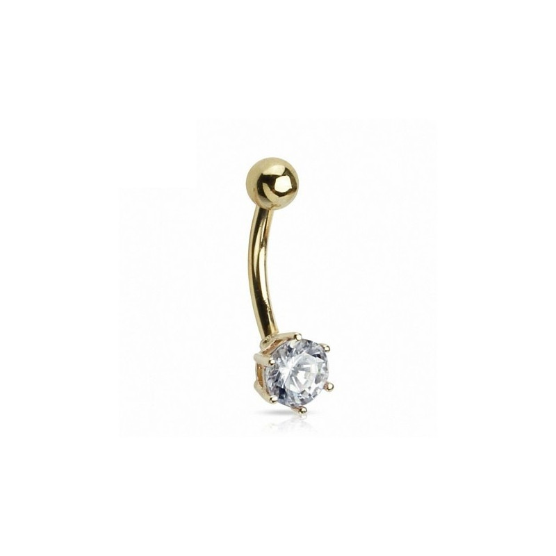 Piercing nombril or massif solitaire or jaune