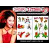 Tatouages autocollants Noel 55 tattoos Pack