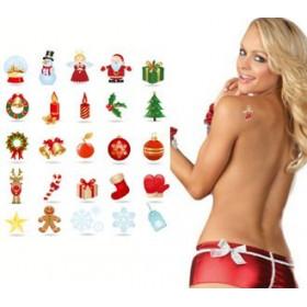 Tatouages temporaires Fête de fin d'année : Noël