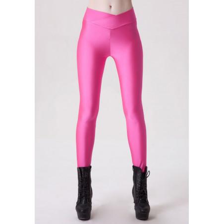 Leggings femme rose fluo
