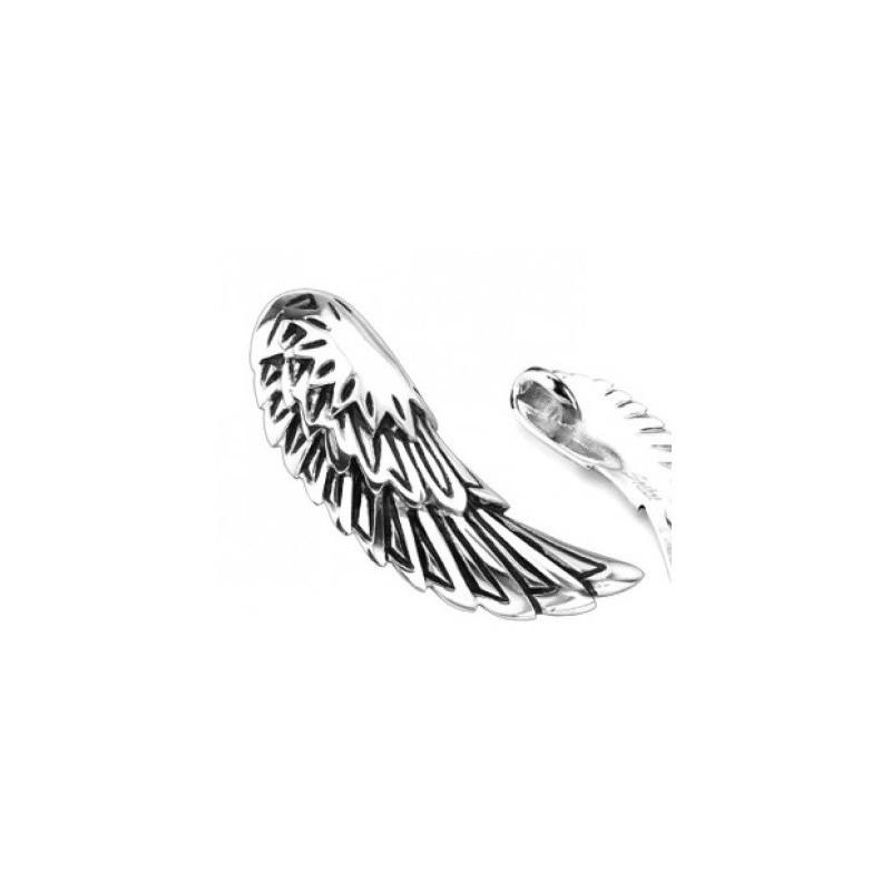 Pendentif homme bicker motif aile d'ange acier inoxydable chirurgical