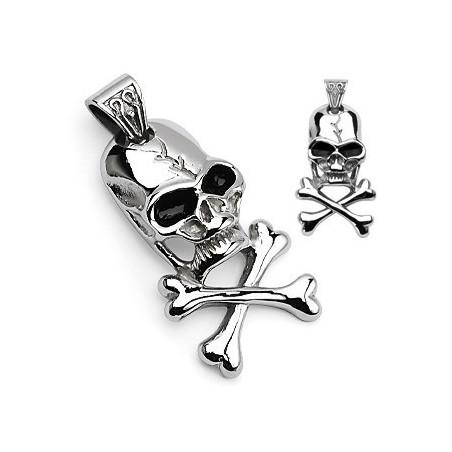 Pendentif pirate Skull acier