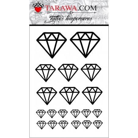 Tatouage temporaire 20 diamant