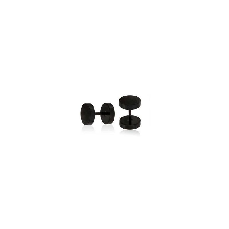 faux plug oreille acier chirurgical noir