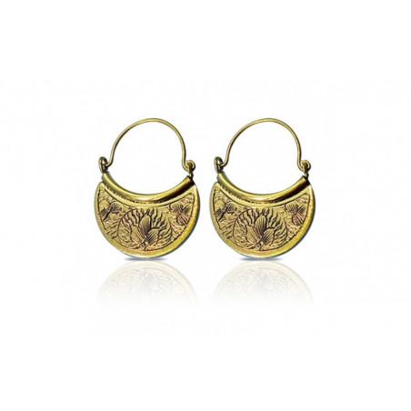 Boucles d'oreilles bouclier doré