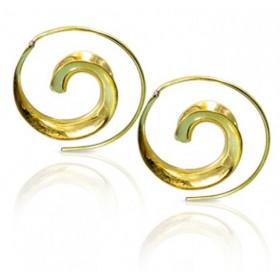 Boucles d'oreilles spirales antique escargot