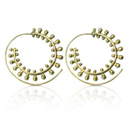 Boucles d'oreilles orientales en spirale doré