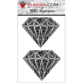 Tatouage temporaire diamant Maori pour homme et femme