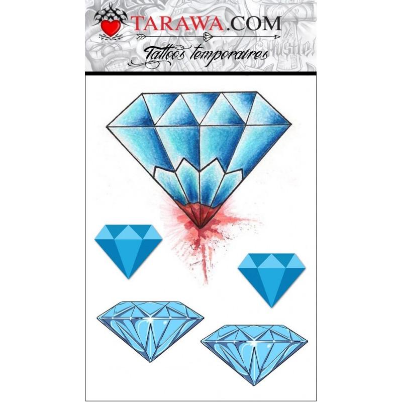 Tatouage temporaire diamant couleur old School