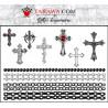 Tatouages temporaires chapelet croix et chaine