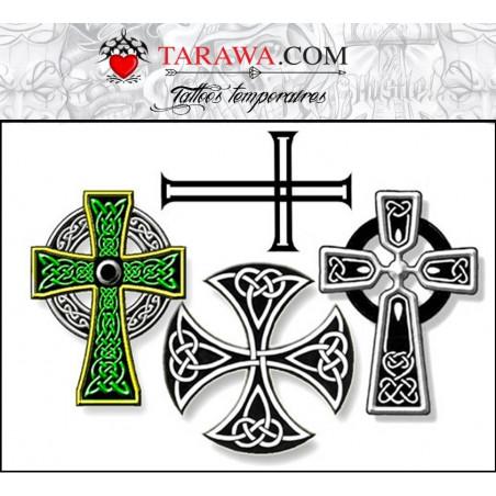 Tatouages temporaires Croix Celtique