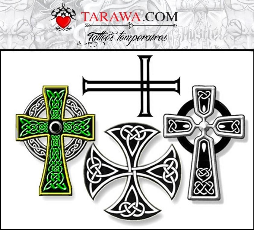 Tatouages Temporaires Croix Celtique Tarawa Tatouage Ephemere
