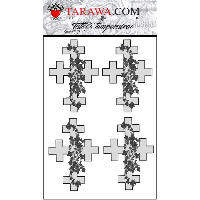 Tatouage temporaire croix Drew Barrymore