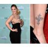 Tatouage éphémère croix Drew Barrymore