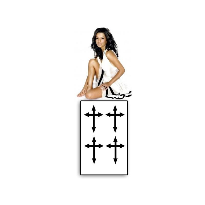 Tatouage croix Eva Longoria motif croix noir