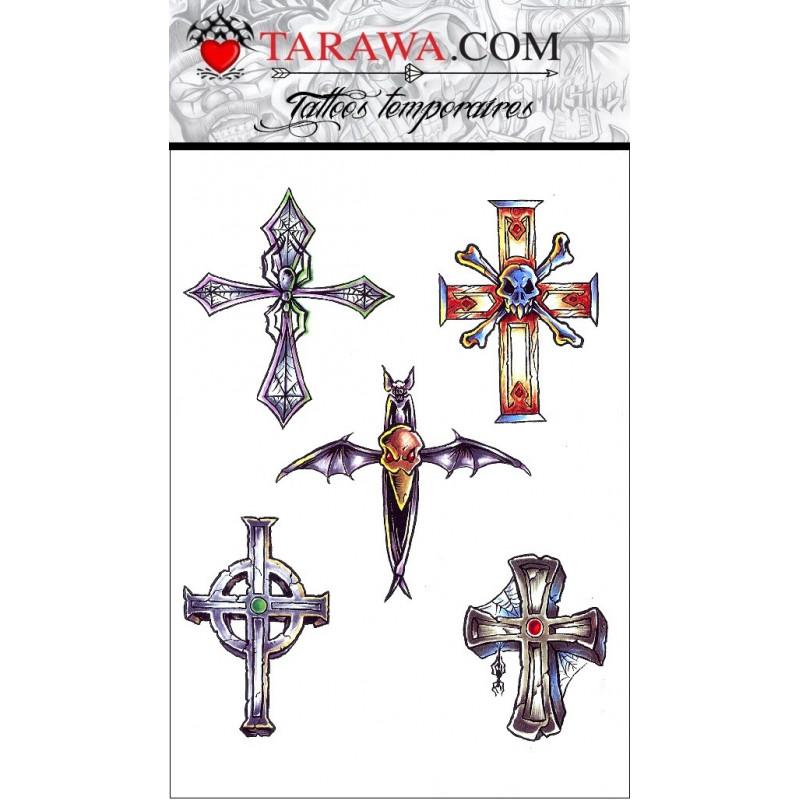 Tatouages Temporaires Gothique Croix