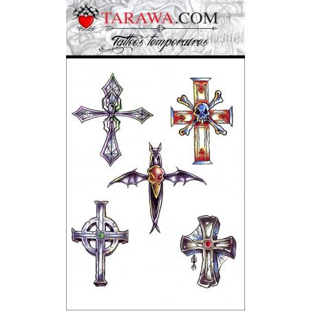 Tatouages temporaires croix Gothique