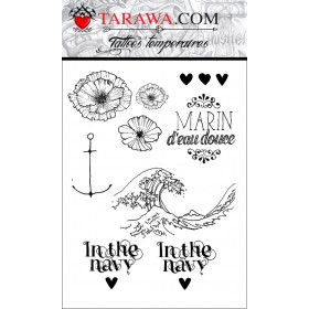 Tatouages éphémère Marin d eau douce ancre marine