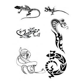 Tatouage autocollant Reptile